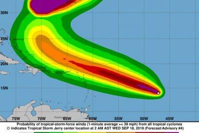tropical storm jerry path hurricane