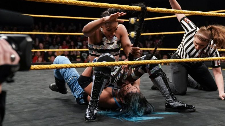bianca belair mia yim nxt braid assist