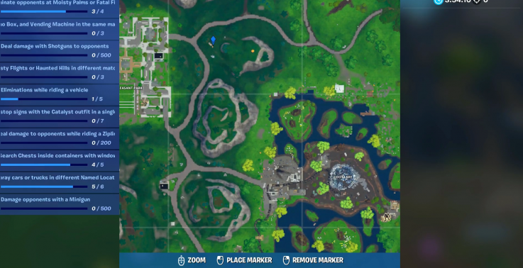 fortnite time trial location plesasant