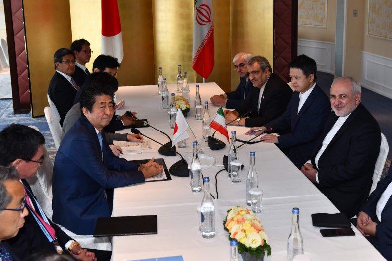 japan iran abe zarif diplomacy