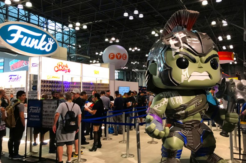 Gladiator Hulk guards the NYCC Funko Booth