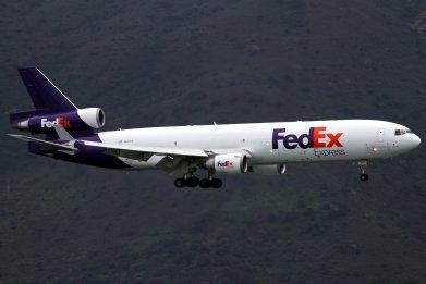 fedex plane hong kong china