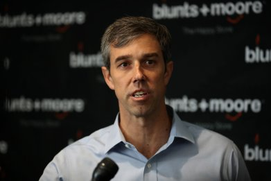Democratic Presidential Candidate Beto O'Rourke Speaks To The Media After A Roundtable At An Oakland, CA Marijuana Dispensary