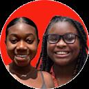 Nyiesha Mallet and Asli Mwaafrika