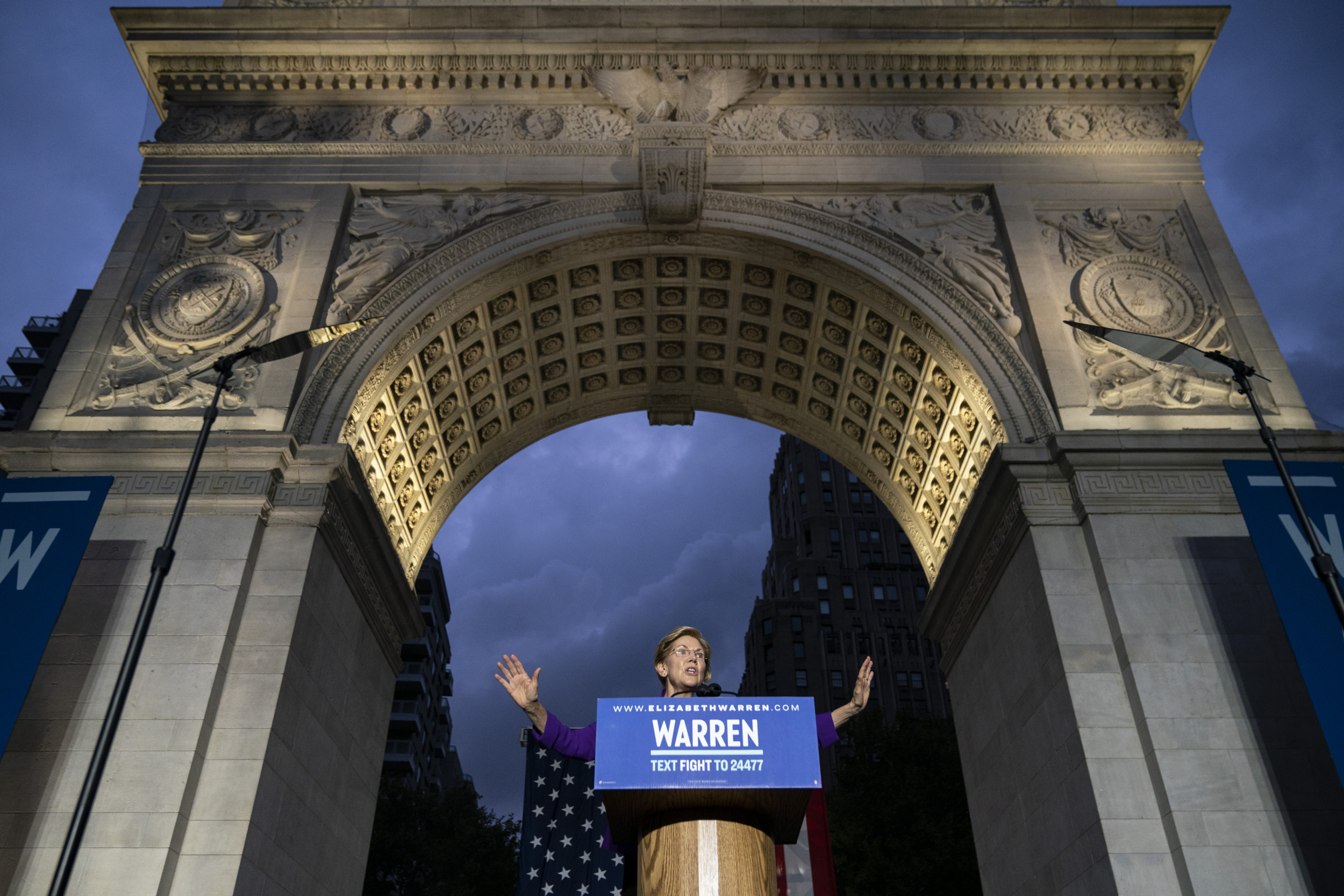 Elizabeth Warren campaigns in New York