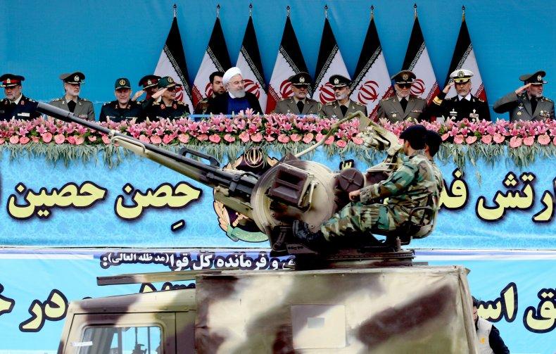iran military president rouhani parade