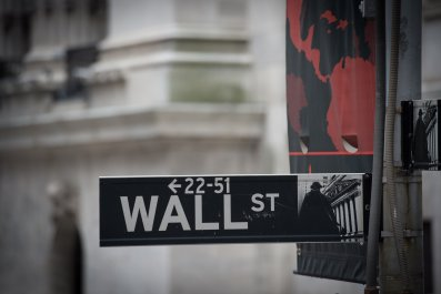Wall Street sign Economy