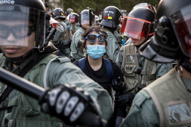 Hong Kong, democracy, activist, China, police, violence