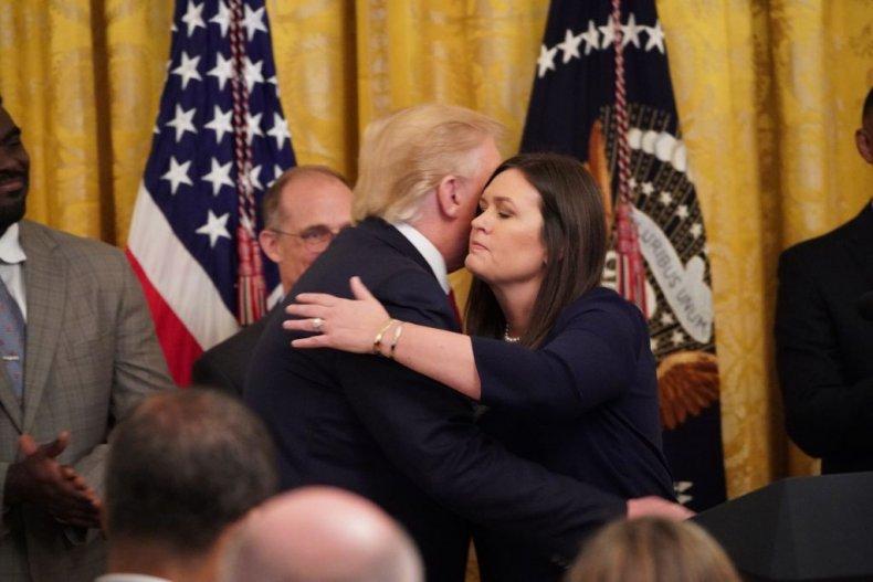 Trump and Sarah Huckabee Sanders
