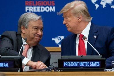 Donald Trump and Antonio Guterres