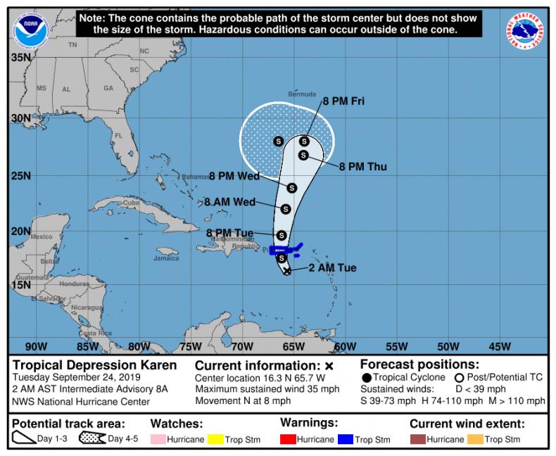 Tropical Depression Karen