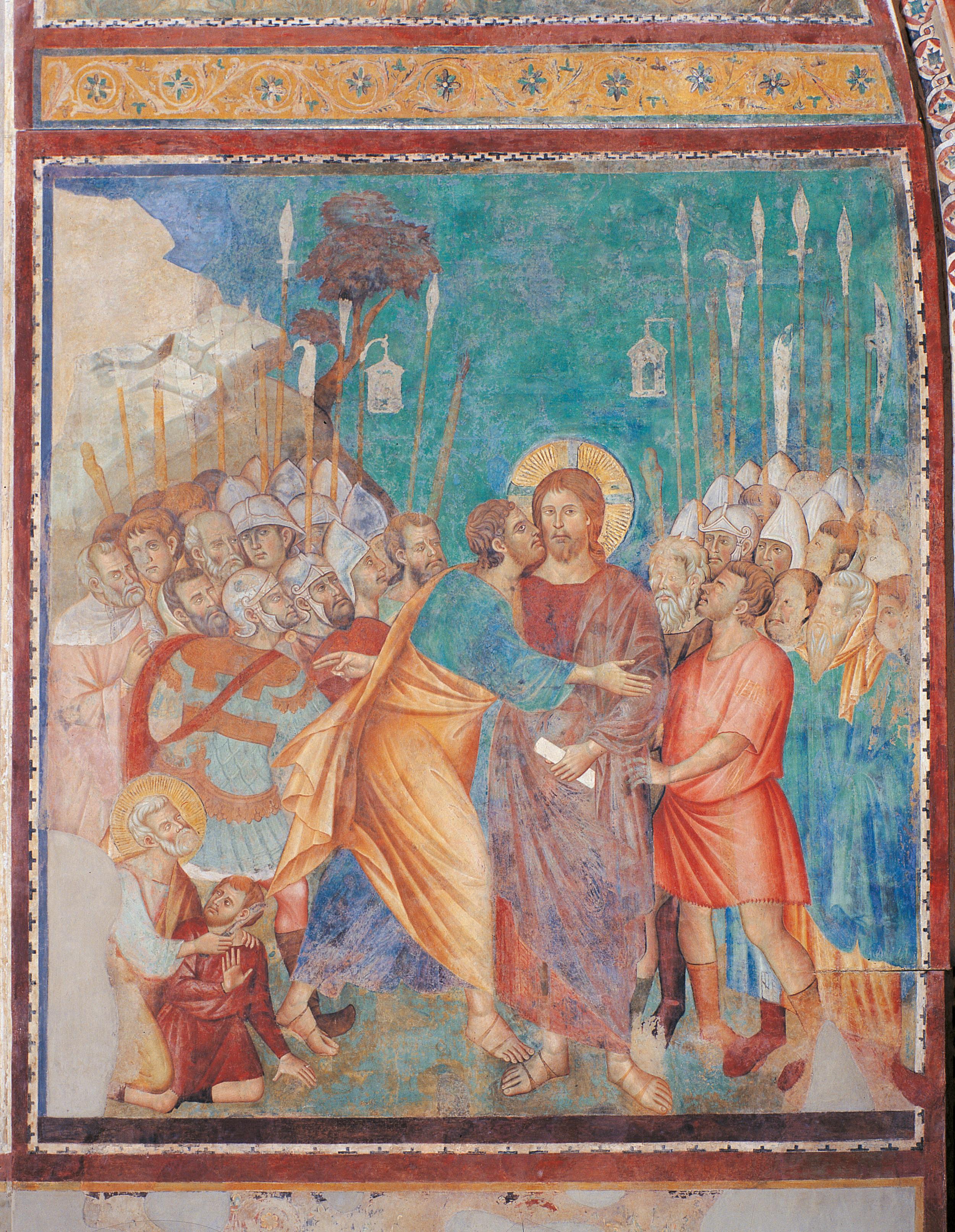 Jesus Helping Woman Painting Art