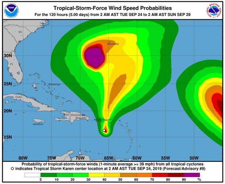 tropical storm karen puerto rico earthquake
