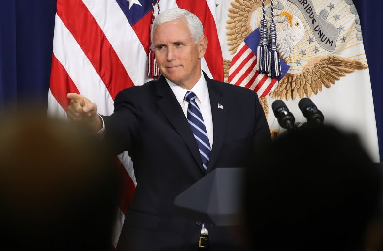 Vice President Pence Delivers Remarks At White House Naturalization Ceremony