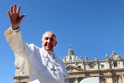 Pope Francis Outside Saint Peter's Square
