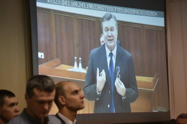 ukraine president Viktor Yanukovych trial