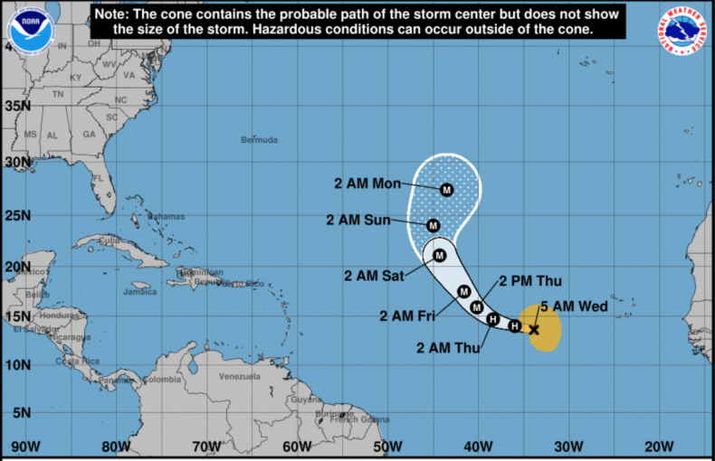 Hurricane Lorenzo Projection 9/25/2019