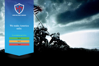 Hire Military Heroes malware website