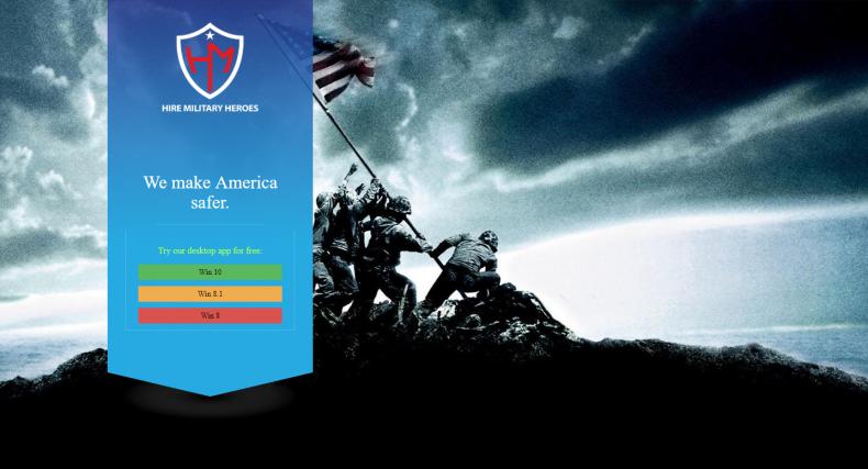 Hire Military Heroes malware website