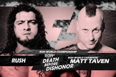 ring of honor death dishonor rush taven