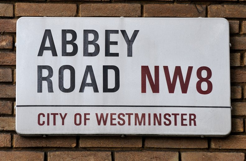 Abbey Road 50th Anniversary Road sign