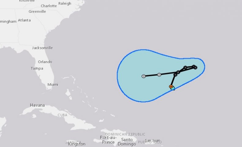 tropical storm karen path update