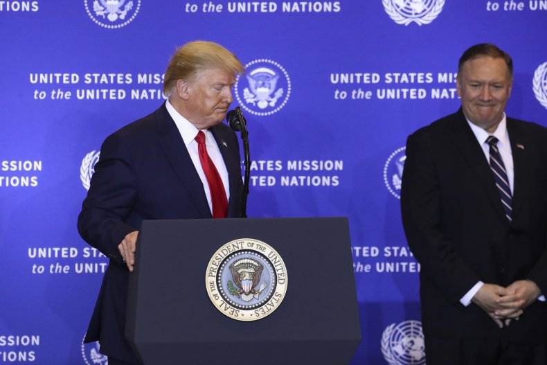 President Trump Holds News Conference In New York As World Leaders Gather In NYC For United Nations General Assembly