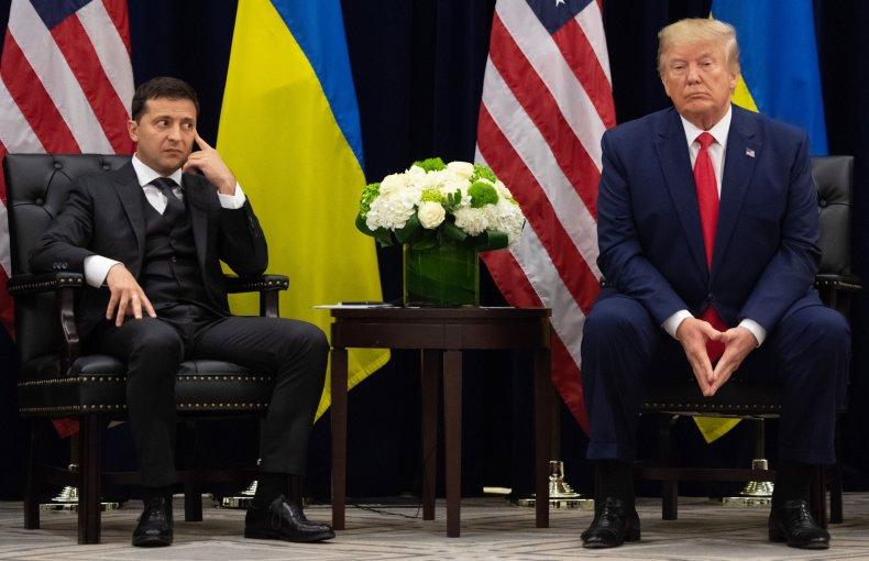 Trump, Zelensky Stare at Reporters