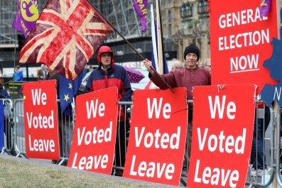 Brexit process BBC riots