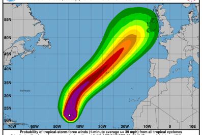 Hurricane Lorenzo Wind Speed