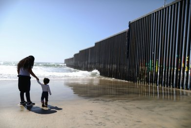 Child at U.S.-Mexico border