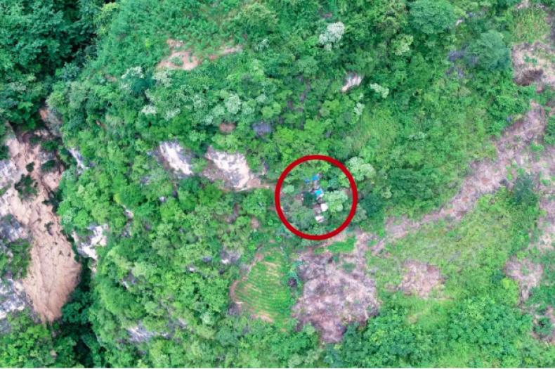 drone footage identifies fugitive hideout