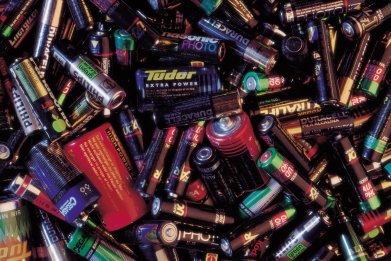 Batteries being recycled