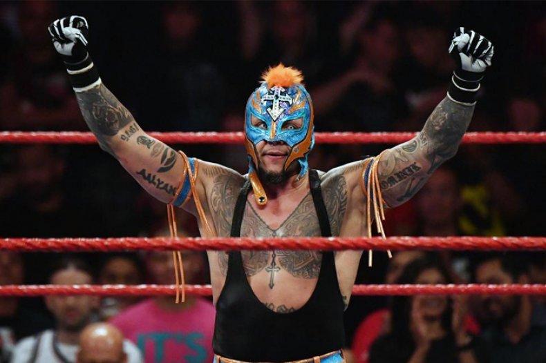 wwe rey mysterio wins fatal fiveway raw