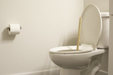 Toilet with plunger