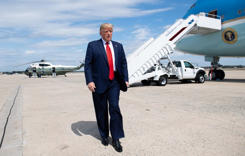 donald trump air force one andrews base