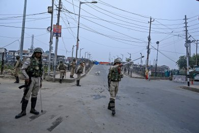 india administered kashmir border security pakistan