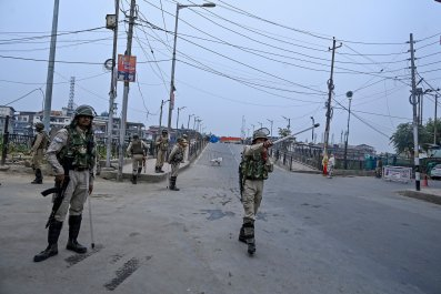 india administered kashmir border security pakistan