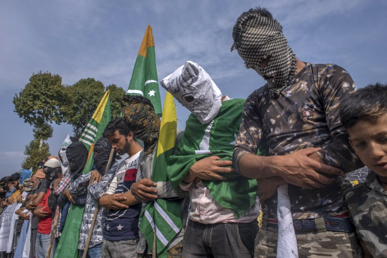 kashmir india protest lockdown pakistan