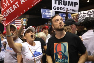 QAnon conspiracy believing Trump supporters