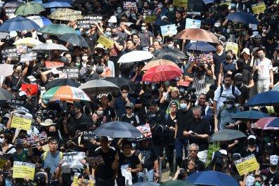 Hong Kong, China, national day, October 1
