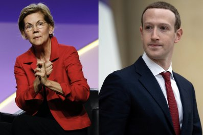 Sen Elizabeth Warren and Zuckerberg