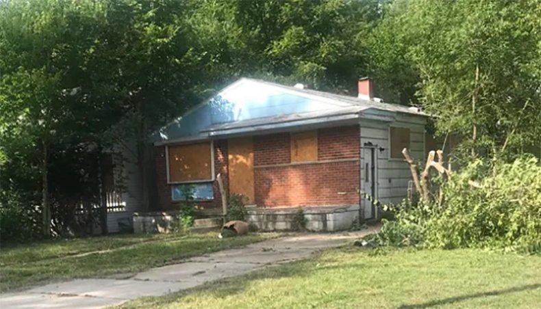 Demolished house belonging to Sherry Gay-Dagnogo