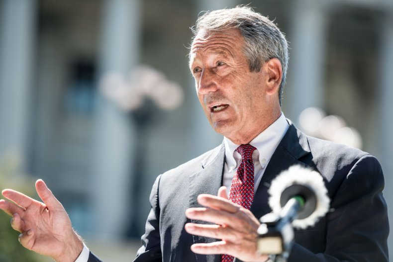 Republican Presidential Candidate Mark Sanford Campaigns At The South Carolina Statehouse