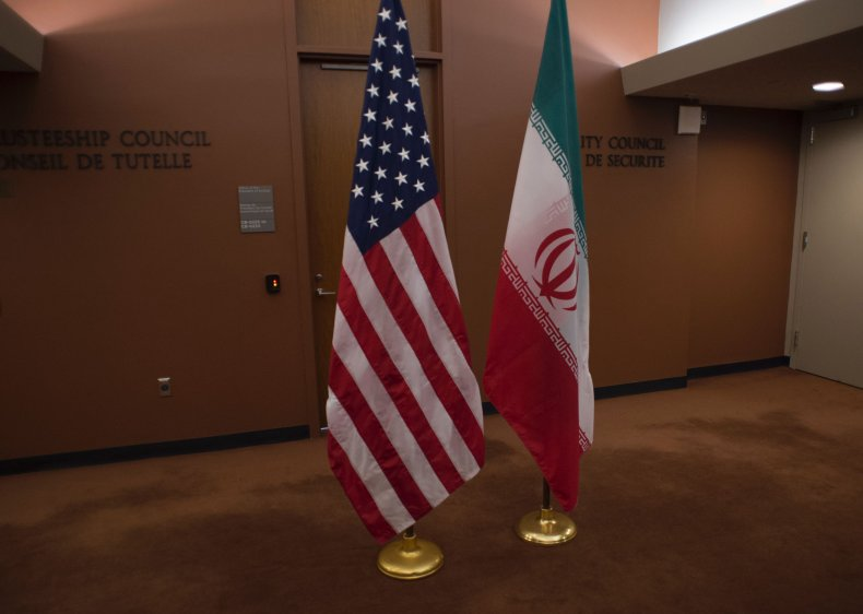 iran us flags united nations
