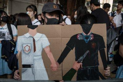 Hong Kong, police, brutality, shooting, Joshua Wong