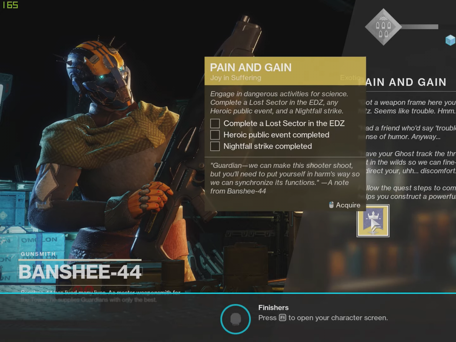 Destiny 2' Pain & Gain Exotic Quest Guide - How to Get the