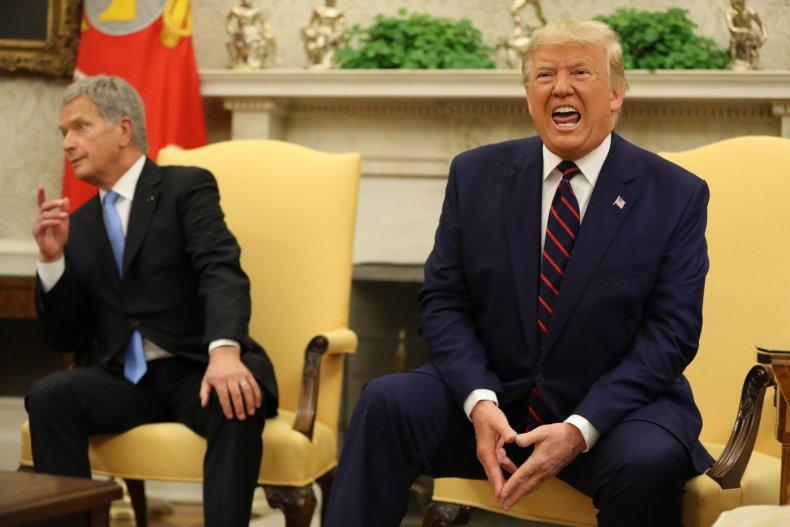 Trump Finland President Happy