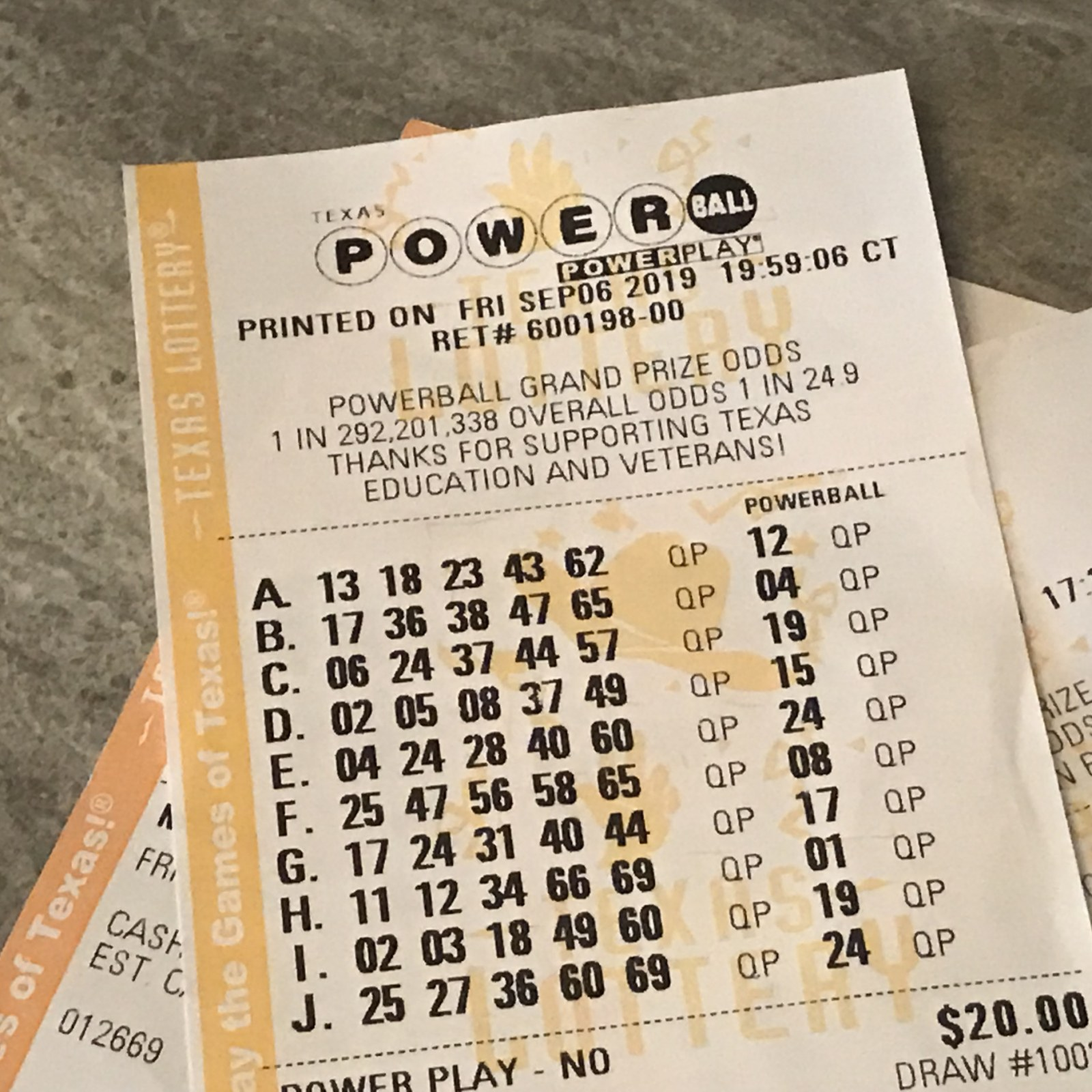 Powerball Numbers For 12 23 20 Wednesday Jackpot Was 321 Million