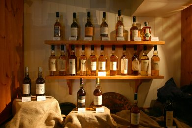 Talisker whiskey distillery shop